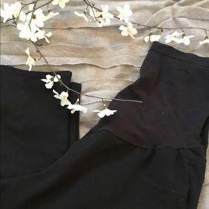 Black maternity skinny pants